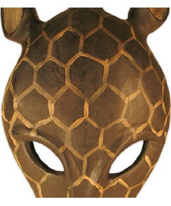Giraffe Tribal Mask Wall Hanging