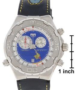 Technomarine Men's 'Polo Timer' Limited Edition Blue Chronograph Watch - Thumbnail 2
