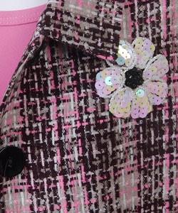 She's the One Girl's 2pc Tweed Jacket & Dress Set
