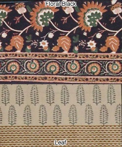 Block-printed King Duvet Cover Set (India) - Thumbnail 2