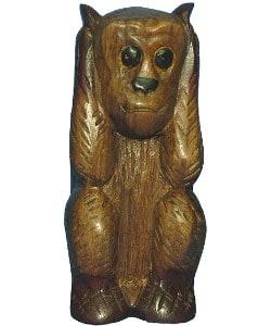 Hear/ Speak/ See No Evil Wooden Monkey Set - Thumbnail 2