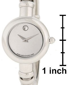 Movado Bareleto Women's Stainless Steel Bangle Watch - Thumbnail 2