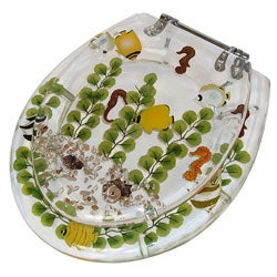 Clear Acrylic Tropical Fish Toilet Seat   Thumbnail 2Clear Acrylic Tropical Fish Toilet Seat   Free Shipping Today  . Tropical Fish Toilet Seat. Home Design Ideas