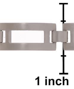 Men's Stainless Steel Rectangular Link 8 inch 10 mm Bracelet