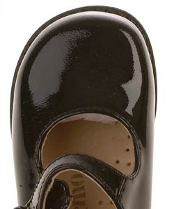 Naturino Girls' Black Patent Leather Mary Jane Shoes - Thumbnail 2