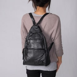Adi Designs Genuine 16-inch Leather Backpack - Thumbnail 2