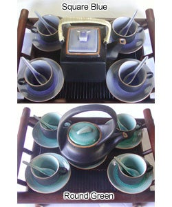 Glazed Ceramic 14-pc. Tea Set (Vietnam)