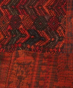 Red/Rust Embroidered Throw Blanket (Guatemala) - Thumbnail 2