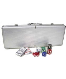 King Pin 500-pc. 11.5g Deluxe Poker Set with Aluminum Case - Thumbnail 2