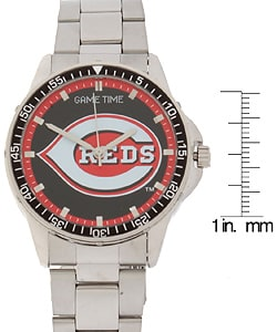 Cincinnati Reds Coach Series Stainless Steel Watch