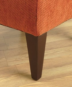 Shop Rust Orange Triangle Button Tufted Chair Overstock