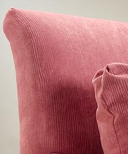Shop Fuschia Corduroy Welted Armchair - Overstock - 1746118
