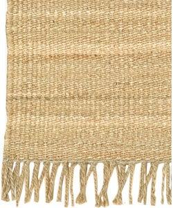Hand-woven Natural Fiber Jute Rug (5' x 7'6) - Thumbnail 2