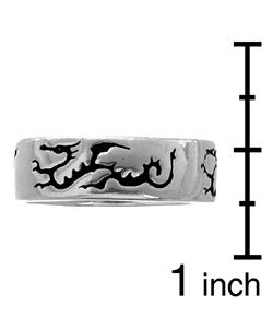 Journee Collection Sterling Silver Three-dragon Band