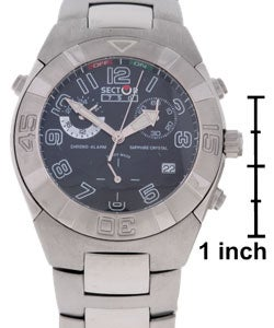Sector 750 Men's Black Dial Stainless Chronograph Watch - Thumbnail 2