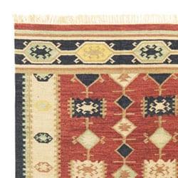 Flat-woven Nara Vista Wool Rug (9' x 12')