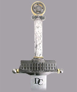 D.C. Monument  Sword with Plaque by Russ Farrell - Thumbnail 2