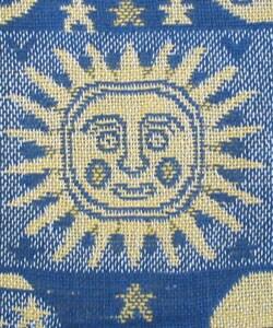Sun, Moon, and Stars Cotton Throw Rug (India) - Thumbnail 2