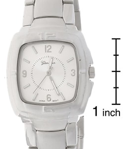 Geneva Platinum Men's Silvertone Watch - Thumbnail 2