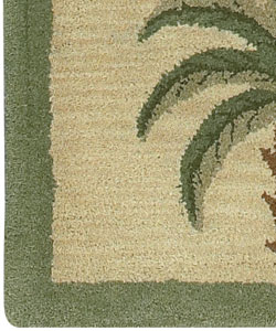 Hand Tufted Palm Tree Wool Rug 5 X 7 Free Shipping