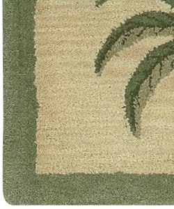 ... Hand Tufted Palm Tree Wool Rug (8u0027 X 10u0027)   Thumbnail