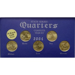 24k Gold Plated 2004 State Quarter Series & Knife - Thumbnail 2