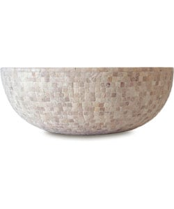 Fontaine Mosaic Travertine Cubes Bathroom Vessel Sink - Thumbnail 2
