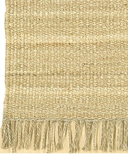Hand-woven Jute Bleached Rug (8' Square) - Thumbnail 2