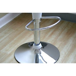 Metropolis White Adjustable Bar Stools (Set of 2)