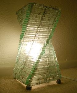 Recycled Glass Mix Twisti Lamp (Indonesia)