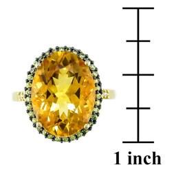 14k Yellow Gold Citrine & Yellow Sapphire Ring - Thumbnail 2