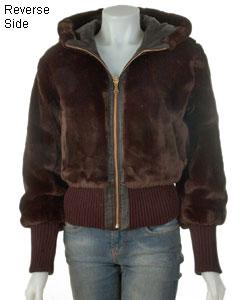 Shop Baby Phat New Zealand Lamb Leather Reversible Coat - Free ... 1f2bf210e
