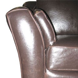 Brown Leather Sectional Sofa - Thumbnail 2
