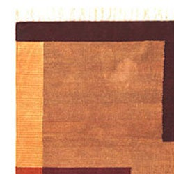 Hand-woven Complex Chenille Rug (9' x 12') - Thumbnail 2