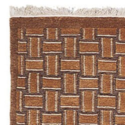 Safavieh Hand-knotted Tibetan Geometric Beige/ Multi Wool Rug (8' x 10)