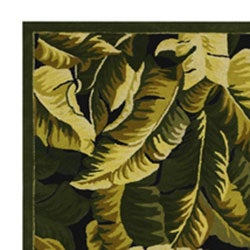 Shop Hand Hooked Tropical Banana Leaf Wool Rug 5 X 8