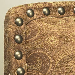 Thumbnail 3, Nutmeg Leather Chair with Lumbar Pillow. Changes active main hero.