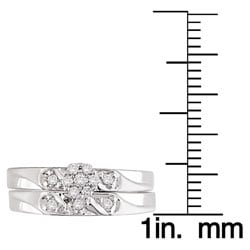 Miadora 14k Gold 1/6ct TDW Round Diamond Bridal Ring Set (G-H/ I3)