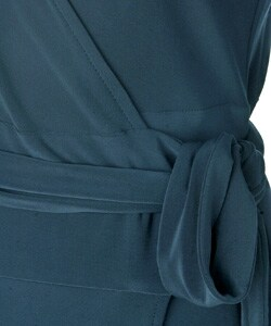 Thumbnail 3, Famous NY Maker Matte Jersey Wrap Dress. Changes active main hero.