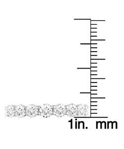 Miadora Signature Collection 18k Gold 3ct TDW Round Diamond Eternity Band (H-I, I1-I2)