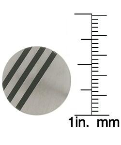 Men's Titanium Cuff Links with Black Rhodium Inlay - Thumbnail 2