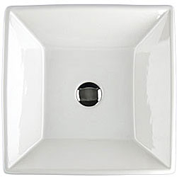 Fontaine Shallow Square Porcelain Bathroom Vessel Sink - Thumbnail 2