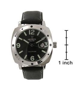 Helbros Men's Colorama Black Dial Strap Watch - Thumbnail 2