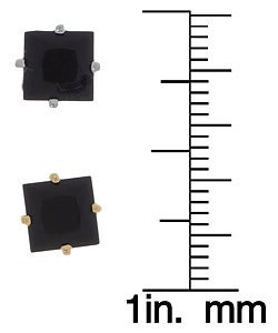 14k Gold Square Black Onyx Stud Earrings
