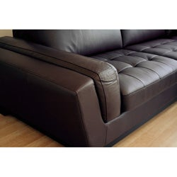 Carson Dark Brown Leather Sectional Sofa