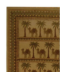 Safavieh Hand-hooked Camel Ivory/ Camel Wool Rug (8'9 x 11'9)