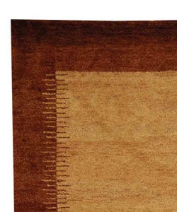 Safavieh Hand-knotted Gabeh Solo Caramel Wool Rug (6' x 9') - Thumbnail 2