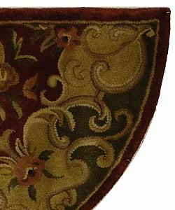 Safavieh Handmade Juliette Rust/ Green Wool Rug (2'6 x 5' Half Moon)