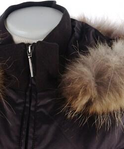 Via Spiga Women's Full-length Down Coat with Raccoon Fur Trim