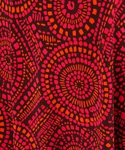 London Times Wrap Matte Jersey 3/4 Sleeve Dress - Thumbnail 2